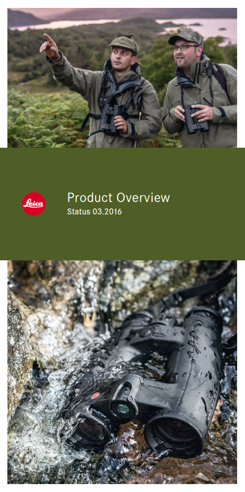 Leica Sport Optics Product Overview complete 2016 norske priser